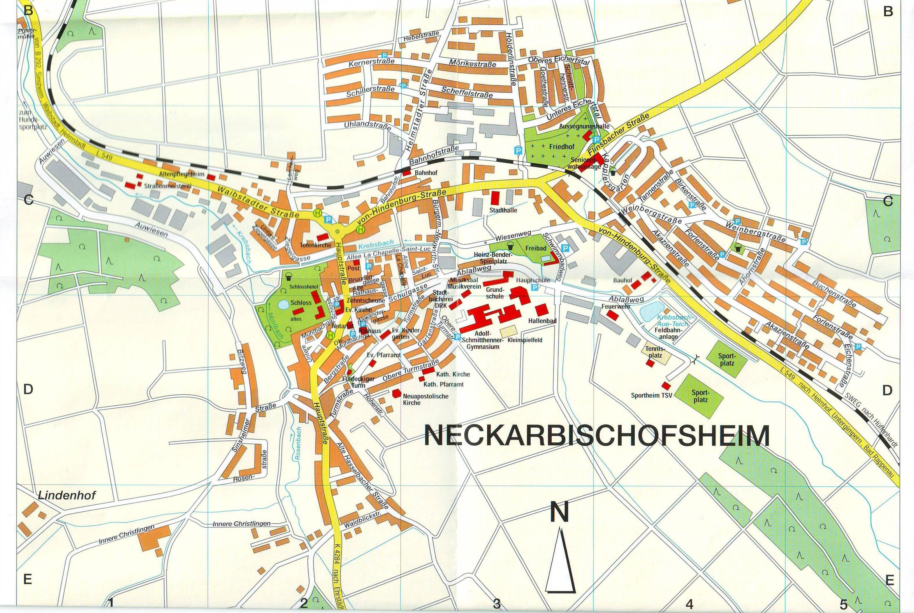Stadt Neckarbischofsheim - Stadtplan